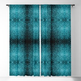 Beautiful Aqua blue glitter sparkles Blackout Curtain