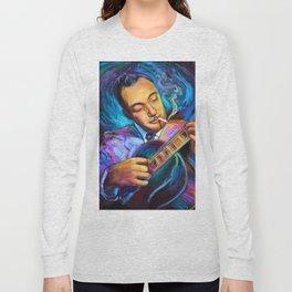 Gypsy Jazz Guitarist Django Reinhardt by Robert Phelps Long Sleeve T-shirt