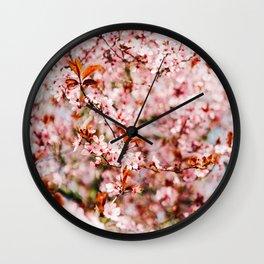 Cherry Blossom Tree (Color) Wall Clock