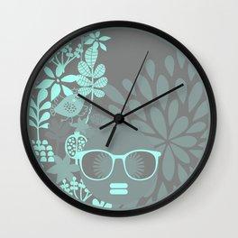 Afro Diva : Aqua Sophisticated Lady Wall Clock