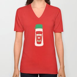 The Coffee Stacker Unisex V-Neck