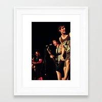 punk rock Framed Art Prints featuring Punk Rock by Rick Cohen