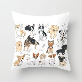 Dog Lovers for Women Men Kids - Rescue Dog Shirt Throw Pillow