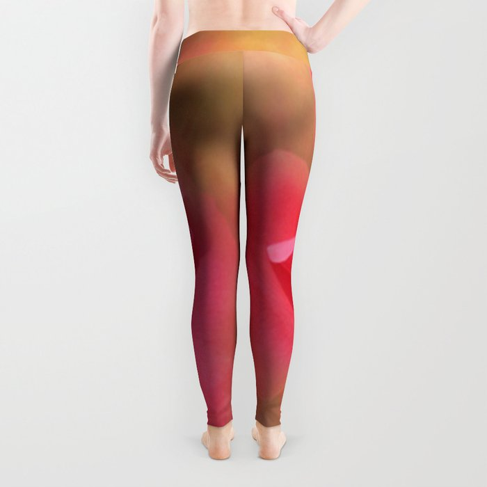 Enchanting Elegant Rose Leggings