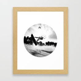 """WHEN THE TIME COMES"" kitesurf . kite . surf Framed Art Print"
