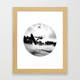 """""""WHEN THE TIME COMES"""" kitesurf . kite . surf Framed Art Print"""