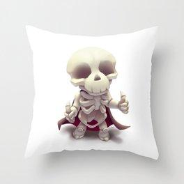 The happy skeleton Throw Pillow