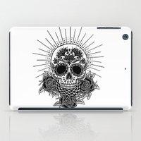 sugar skull iPad Cases featuring Sugar Skull by Nora Bisi