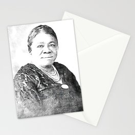Mary Jane McLeod Bethune - SketchArt - American Educator Society6 Online Artworks 881 Stationery Cards