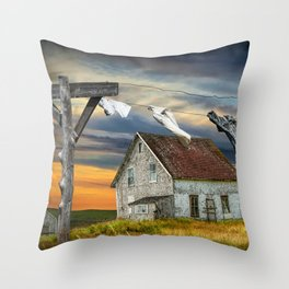 Wash on the Line Throw Pillow
