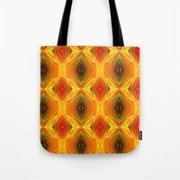 orange pattern Tote Bags featuring Orange Pattern by Art-Motiva