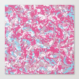Unicorn abstract hand-painted texture Canvas Print