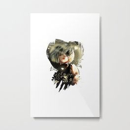 Nier Automata 2B heart love Metal Print