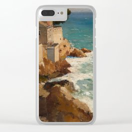 ALEKSEI VASILIEVICH HANZEN (RUSSIAN 1876-1937) House on the Dalmatian Coast Clear iPhone Case