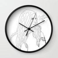 lana Wall Clocks featuring Lana by Shaina F.
