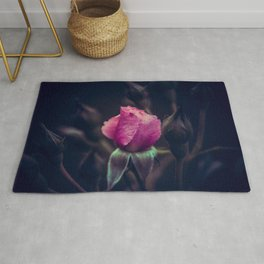 Pink Rose in the Night. Rug