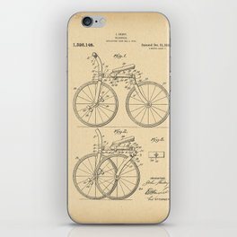 1919 Patent folding Bicycle iPhone Skin