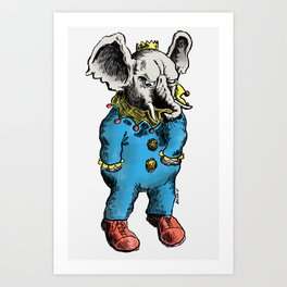Clown O Phant Art Print