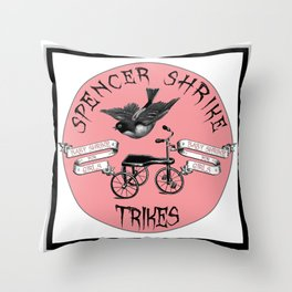 Shrike Trikes for Girls Throw Pillow