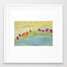 Praise by the River Framed Art Print