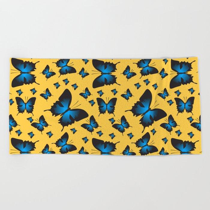 Butterfly Sailboat Beach Towel By Traida Society6
