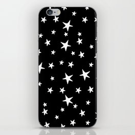 Stars - White on Black iPhone Skin