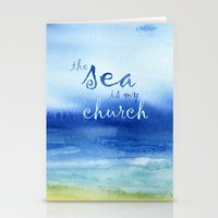 reassurance Stationery Cards featuring The Sea Is My Church (text) by Jacqueline Maldonado