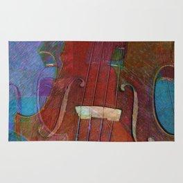 Violin Abstract Two Rug