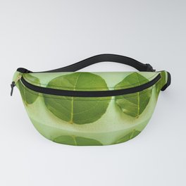 Save nature - fresh leaves with reflections Fanny Pack
