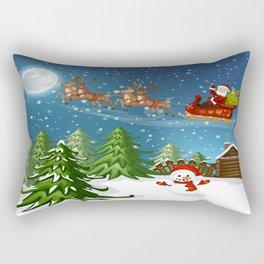 Christmas Scene Rectangular Pillow