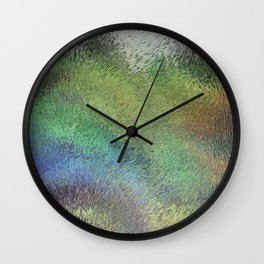 Wavy Abstract Colorful Frosted Glass Wall Clock