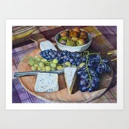 Fuit and Cheese Art Print