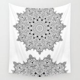 Stars and Stripes - Patriotic Mandala - Black and White - 'Merica! Wall Tapestry