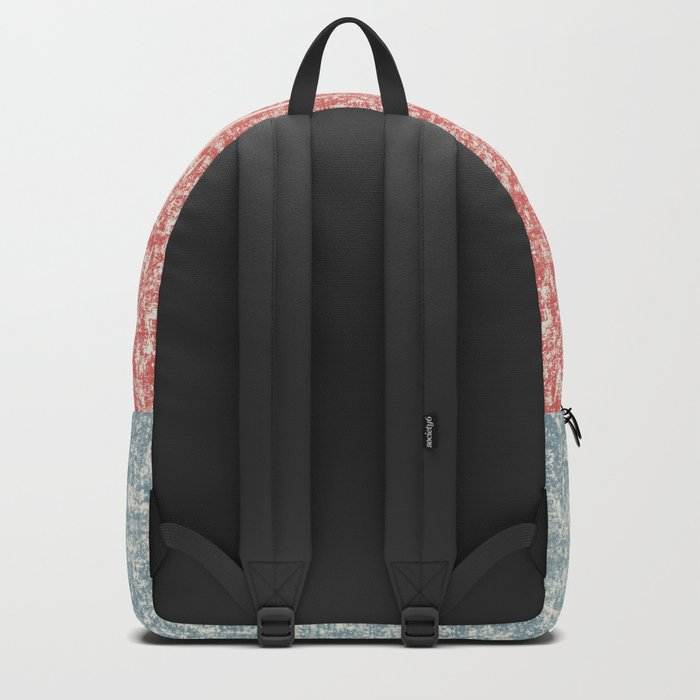 Maritime Navy Stripes Stripe in Red White Blue-Vertical on #Society6 Backpack