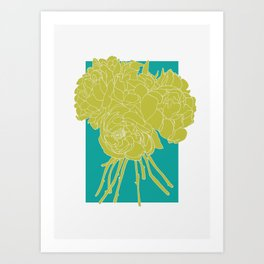 Floral Greens Art Print