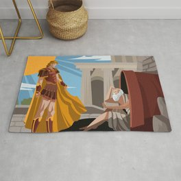diogenes the cynic greek philosopher and alexander the great Rug