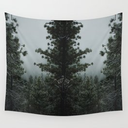 Backwoods Winter: Ponderosa Pines, Washington Wall Tapestry