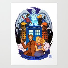 Doctor Who - Allons-y Alonso ! Art Print