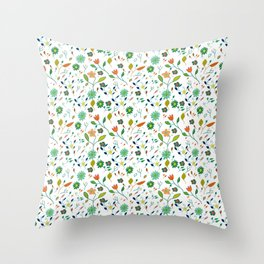 Floral Pattern IV simple draw Throw Pillow