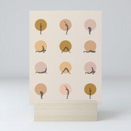 sun salutation I –saffron Mini Art Print