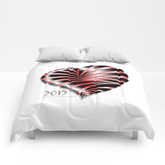 Forever love Valentine Illustration Comforters
