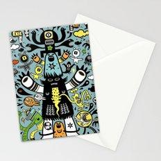 Guru Cat (blue time) Stationery Cards