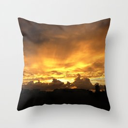 Sunset in Miramar Throw Pillow