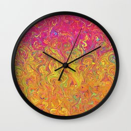 Fluid Colors G262 Wall Clock