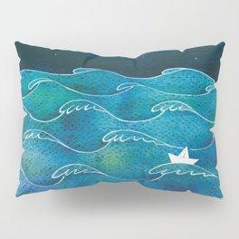 Night big ocean waves Pillow Sham
