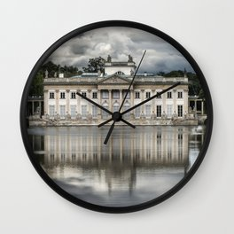 Pretty palace in Warsaw Wall Clock