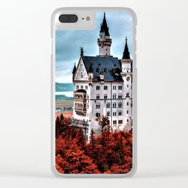 The Castle of Mad King Ludwig in the Autumn, Neuschwanstein Castle, Bavaria, Germany Clear iPhone Case