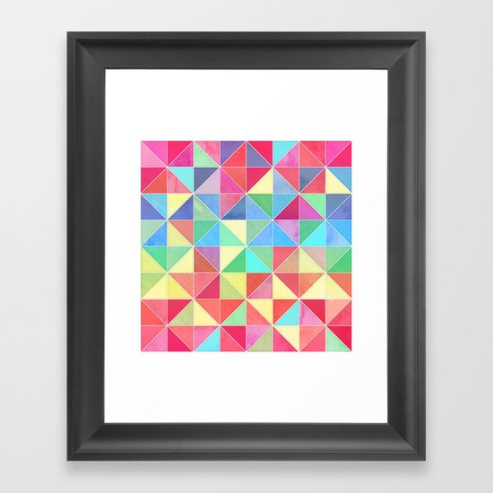 Rainbow Prisms Framed Art Print