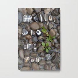 Real Stones Font Steambed Metal Print
