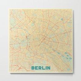 Berlin Map Retro Metal Print